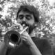 Musicista Cataldo Barreca suona la tromba
