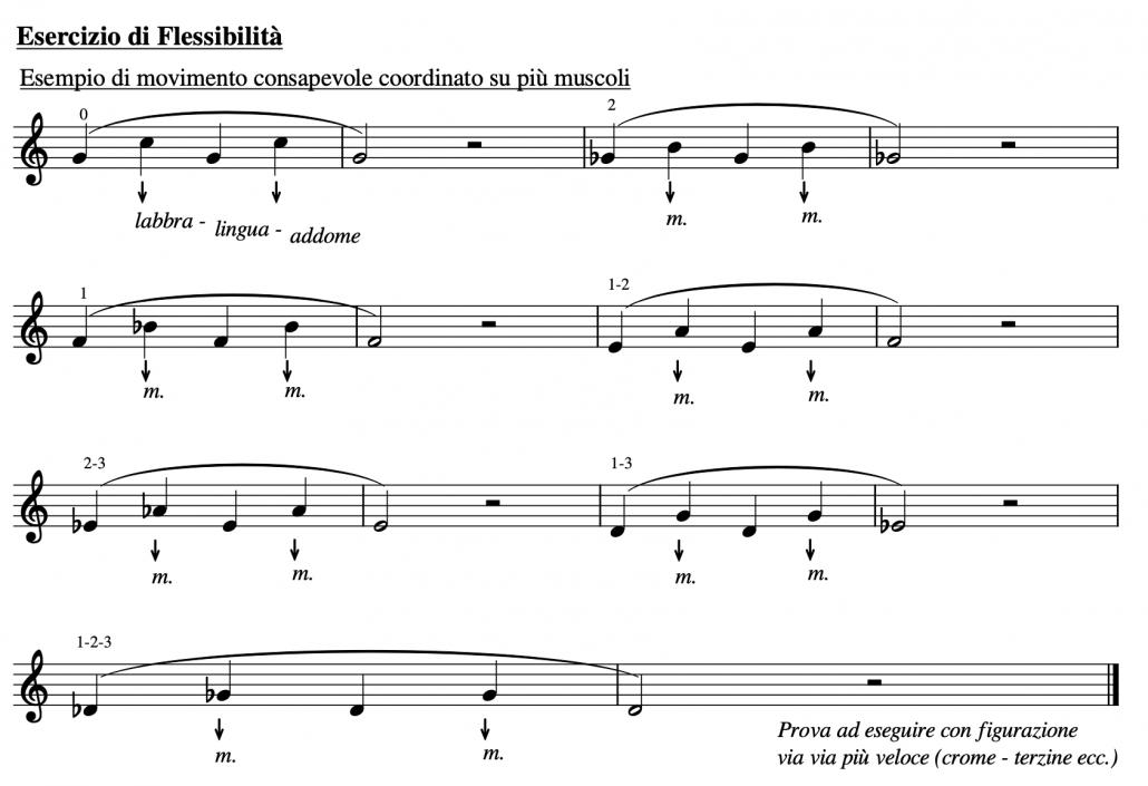 Riscaldamento consapevole - esercizio di flessibilità sui suoni armonici